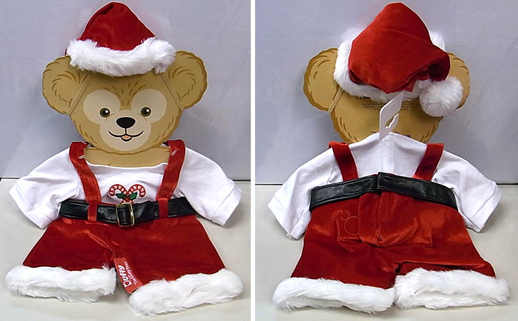 DISNEY USAディズニーテーマパーク限定 DUFFY THE DISNEY BEAR COSTUME [DUFFY THE DISNEY BEAR CHRISTMAS HOLIDAY SANTA COSTUME]