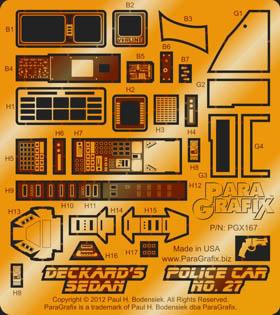 PARAGRAFIX フジミ 1/24スケール デッカードセダン & ポリスカー用 エッチングパーツ&デカールセット / PGX167