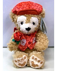 DISNEY USAディズニーテーマパーク限定 DUFFY THE DISNEY BEAR 9INCH VALENTINE DUFFY THE DISNEY BEAR