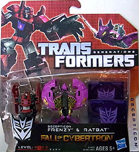 HASBRO TRANSFORMERS GENERATIONS FALL OF CYBERTRON LEGENDS CLASS DATA DISC 2PACK DECEPTICON FRENZY & RATBAT