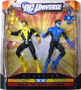 MATTEL DC UNIVERSE CLASSICS 2PACK YELLOW LANTERN: HAL JORDAN & BLUE LANTERN: KYLE RAYNER