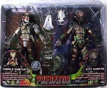 NECA PREDATORS USA TOYSRUS限定 2PACK PREDATOR JUNGLE HUNTER & PREDATOR 2 CITY HUNTER [BATTLE DAMAGED] [国内版]