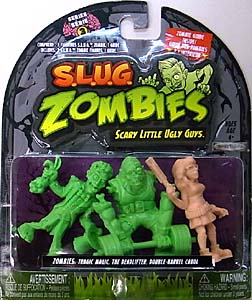 JAKKS PACIFIC S.L.U.G. ZOMBIES SERIES 3 3PACK [TRAGIC MAGIC, THE DEADLIFTER, DOUBLE-BARREL CAROL] パッケージ傷み特価