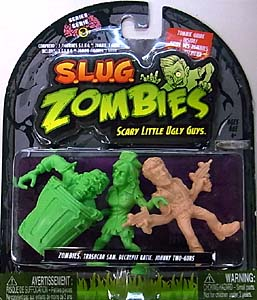 JAKKS PACIFIC S.L.U.G. ZOMBIES SERIES 3 3PACK [TRASHCAN SAM, DECREPIT KATIE, JOHNNY TWO-GUNS] ブリスター&台紙傷み特価