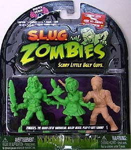 JAKKS PACIFIC S.L.U.G. ZOMBIES SERIES 4 3PACK [THE BRAIN-EATIN' BARBARIAN, MOLDY MOXIE, PLAY-IT-SAFE SAMMY]