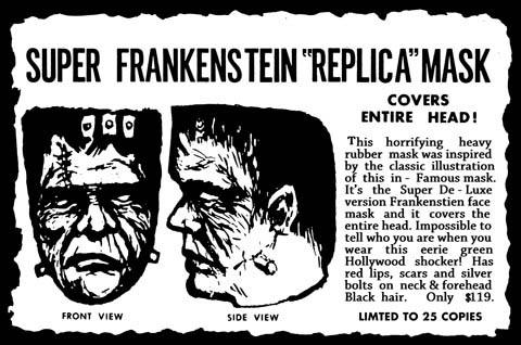 DEVILS WORKSHOP ディスプレイ仕様ラバーマスク RETRO EDITION  SUPER FRANKENSTEIN [GREEN FACE / PURPLE HAIR]