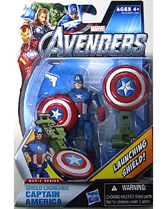 HASBRO 映画版 THE AVENGERS 3.75インチ MOVIE SERIES SHIELD LAUNCHER CAPTAIN AMERICA
