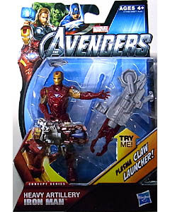 HASBRO 映画版 THE AVENGERS 3.75インチ CONCEPT SERIES HEAVY ARTILLERY IRON MAN 台紙傷み特価