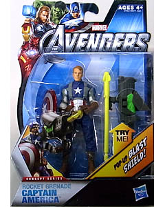 HASBRO 映画版 THE AVENGERS 3.75インチ CONCEPT SERIES ROCKET GRENADE CAPTAIN AMERICA [UNMASKED]