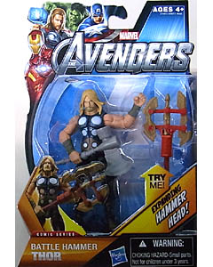 HASBRO 映画版 THE AVENGERS 3.75インチ COMIC SERIES BATTLE HAMMER THOR