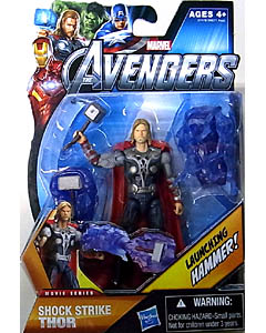 HASBRO 映画版 THE AVENGERS 3.75インチ MOVIE SERIES SHOCK STRIKE THOR 台紙傷み特価
