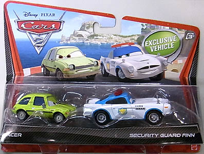 MATTEL CARS2 2PACK ACER & SECURITY GUARD FINN 台紙傷み特価