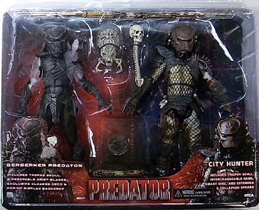 NECA PREDATORS 7インチアクションフィギュア 2PACK BERSERKER PREDATOR & CITY HUNTER