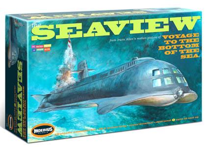 メビウスモデル 全長:約96センチ 映画版 原子力潜水艦シービュー号 組み立て式プラモデル