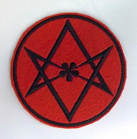 オカルトグッズ HEXAGRAM アイロンワッペン [RED]