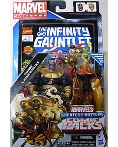HASBRO MARVEL UNIVERSE COMIC PACKS THE INFINITY GAUNTLET THANOS & ADAM WARLOCK