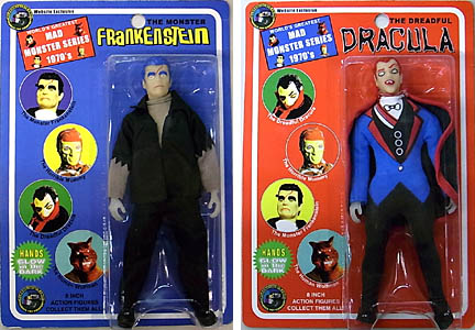 CLASSIC TV TOYS WEBSITE EXCLUSIVE MAD MONSTER SERIES 8インチ FRANKENSTEIN & DRACULA 2種セット ブリスターワレ特価
