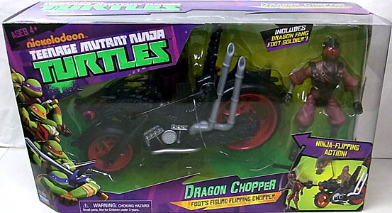 PLAYMATES NICKELODEON TEENAGE MUTANT NINJA TURTLES VEHICLE & FIGURE DRAGON CHOPPER