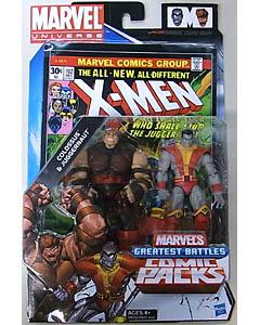 HASBRO MARVEL UNIVERSE COMIC PACKS X-MEN COLOSSUS & JUGGERNAUT