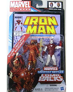 HASBRO MARVEL UNIVERSE COMIC PACKS IRON MAN SILVER CENTURION VS. MANDARIN