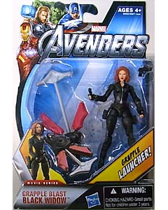 HASBRO 映画版 THE AVENGERS 3.75インチ MOVIE SERIES GRAPPLE BLAST BLACK WIDOW 台紙傷み特価
