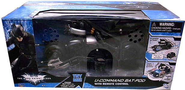 THINKWAY TOYS 映画版 THE DARK KNIGHT RISES U-COMMAND BAT-POD WITH REMOTE CONTROL