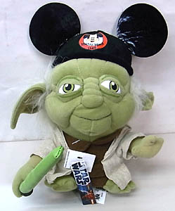 STAR WARS USA ディズニーテーマパーク限定 YODA WITH MICKEY EAR HAT PLUSH