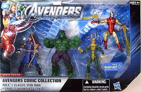 HASBRO 映画版 THE AVENGERS USA WALMART限定 3.75インチ COMIC SERIES 4PACK AVENGERS COMIC COLLECTION [HULK 入り]