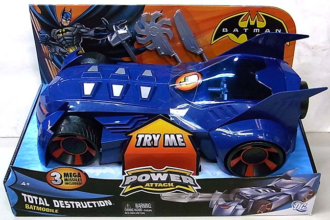 MATTEL BATMAN ANIMATED BATMAN POWER ATTACK TOTAL DESTRUCTION BATMOBILE
