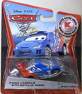 MATTEL CARS2 KMART限定 SILVER RACER SERIES RAOUL CAROULE WITH METALLIC FINISH 台紙傷み特価