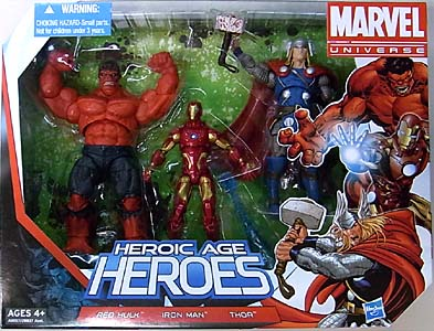 HASBRO MARVEL UNIVERSE 3PACK HEROIC AGE HEROES パッケージ傷み特価