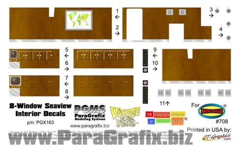 PARAGRAFIX メビウスモデル 全長:約96センチ 映画版 原子力潜水艦シービュー号用 インテリアデカール / PGX163