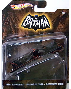 MATTEL HOT WHEELS BATMAN 1/50スケール BATMOBILE 2012 1966 TV SERIES BATMOBILE WITH TRAILER HITCH
