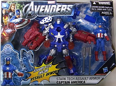 HASBRO 映画版 THE AVENGERS 3.75インチ CONCEPT SERIES STARK TECH ASSAULT ARMOR CAPTAIN AMERICA