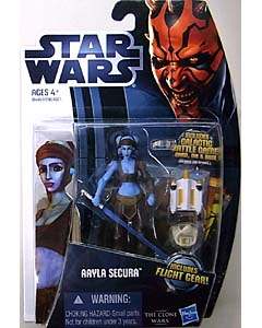 HASBRO STAR WARS THE CLONE WARS 2012 BASIC FIGURE AAYLA SECURA CW14 台紙傷み特価