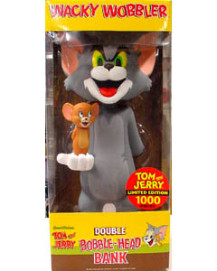 FUNKO WACKY WOBBLER DOUBLE BOBBLE-HEAD BANK TOM & JERRY
