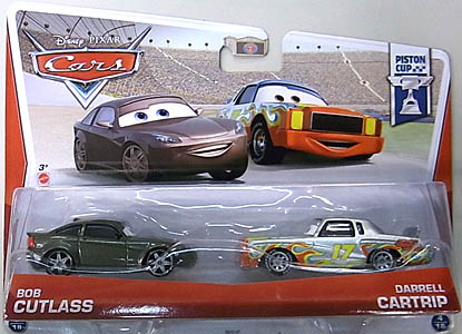 MATTEL CARS 2013 2PACK BOB CUTLASS & DARRELL CARTRIP