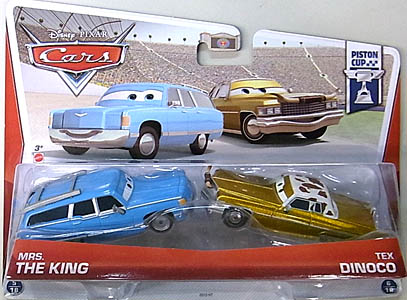 MATTEL CARS 2013 2PACK MRS. THE KING & TEX DINOCO 台紙傷み特価