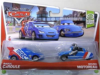 MATTEL CARS 2013 2PACK RAOUL CAROULE & BRUNO MOTOREAU