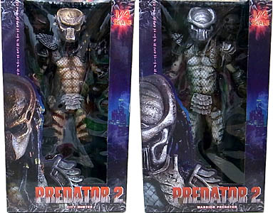 NECA PREDATOR 1/4スケール PREDATOR 2 CITY HUNTER & WARRIOR PREDATOR 2種セット