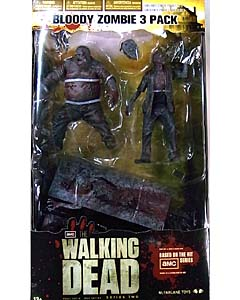 McFARLANE TOYS THE WALKING DEAD TV 5インチアクションフィギュア SERIES 2 BLOODY B&W ZOMBIE 3PACK
