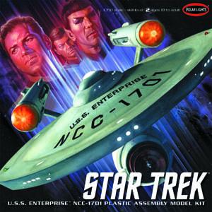 POLAR LIGHTS 1/350スケール STAR TREK TOS U.S.S. ENTERPRISE NCC-1701 スタートレック 宇宙大作戦 エンタープライズ 組み立て式プラモデル