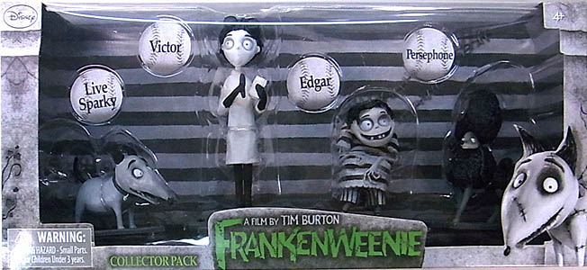 BRIDGE DIRECT DISNEY FRANKENWEENIE PVCフィギュア COLLECTOR PACK [LIVE SPARKY、VICTOR、EDGAR、PERSPHONE] [国内版]