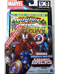 HASBRO MARVEL UNIVERSE COMIC PACKS CAPTAIN AMERICA AND THE FALCON CAPTAIN AMERICA & MARVEL'S FALCON