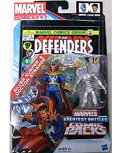 HASBRO MARVEL UNIVERSE COMIC PACKS THE DEFENDERS SILVER SURFER & DOCTOR STRANGE