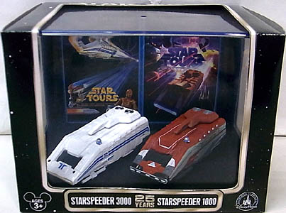STAR WARS セレブレーション6限定 STAR TOURS 25TH ANNIVERSARY STARSPEEDER 3000 & STARSPEEDER 1000 DIE-CAST COLLECTION