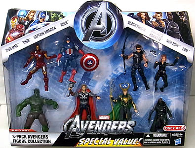 HASBRO 映画版 THE AVENGERS USA TARGET限定 3.75インチ MOVIE SERIES 8-PACK AVENGERS FIGURE COLLECTION