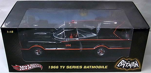 マテル ホットウィール 1/18スケール 1966年 TV版 バットモービル ダイキャストミニカー ノーマル版