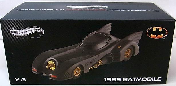 マテル ホットウィール 1/43スケール 1989年 ティム・バートン版 バットマン バットモービル ダイキャストミニカー エリート版