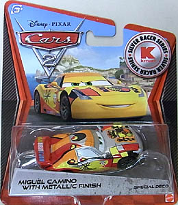 MATTEL CARS2 KMART限定 SILVER RACER SERIES MIGUEL CAMINO 台紙傷み特価